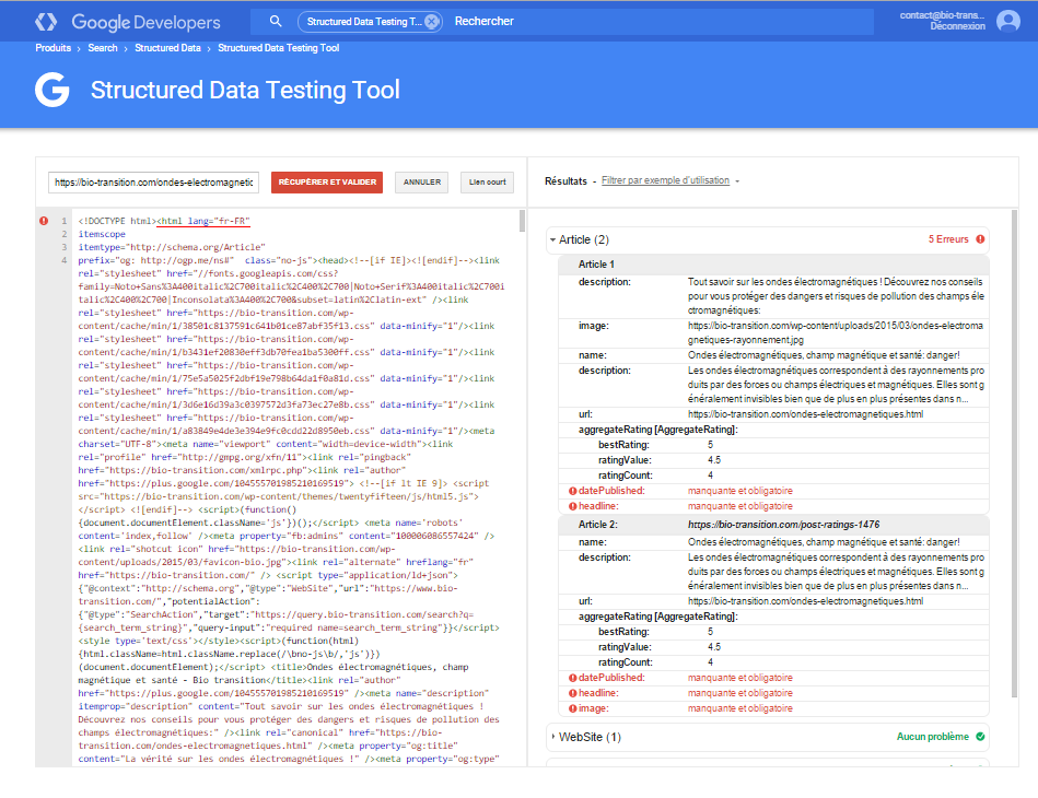 how to use structured data testing tool